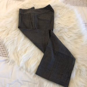 Black and Gray Cropped Dress Pants